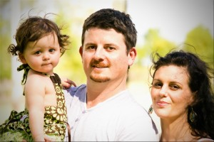 Melissa with her husband Michael and daughter Myla