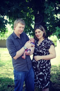 Tracy with her husband John and precious son Oliver